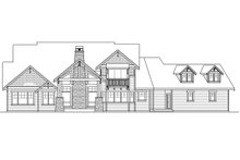 Craftsman Exterior - Rear Elevation Plan #124-1032