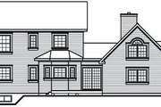 Victorian Style House Plan - 4 Beds 3.5 Baths 2265 Sq/Ft Plan #23-750 Exterior - Rear Elevation