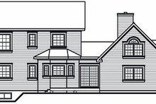 Victorian Exterior - Rear Elevation Plan #23-750