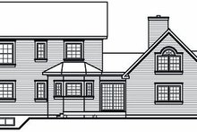 Victorian Exterior - Rear Elevation Plan #23-750