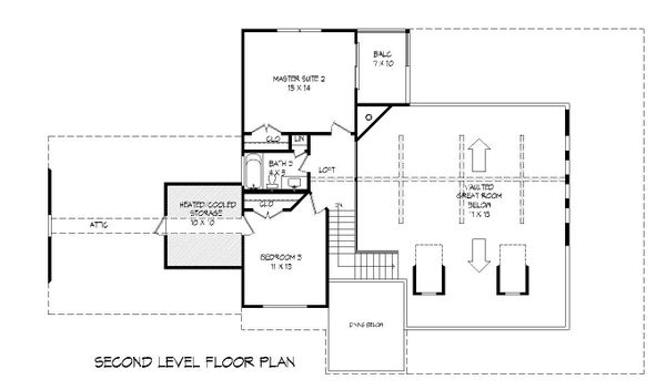 Country Floor Plan - Upper Floor Plan #932-268