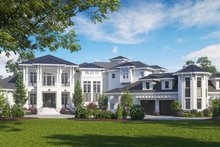 Contemporary Exterior - Front Elevation Plan #27-573