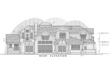 Architectural House Design - Craftsman Exterior - Rear Elevation Plan #892-27