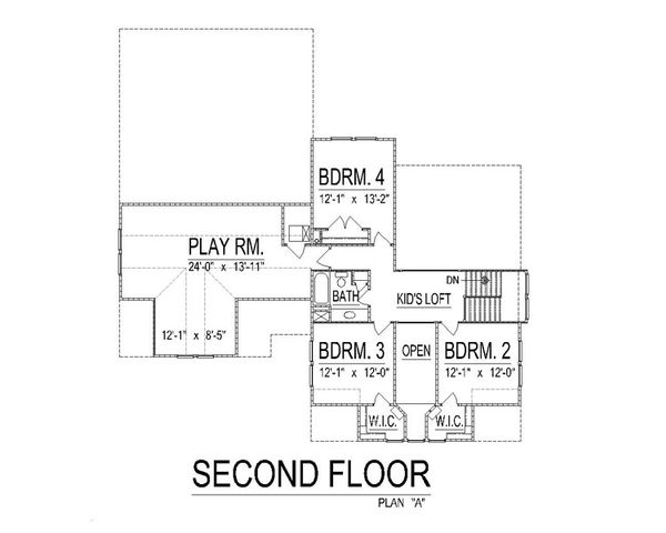 Craftsman Floor Plan - Other Floor Plan Plan #458-10