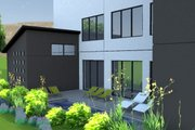 Modern Style House Plan - 3 Beds 4 Baths 3611 Sq/Ft Plan #449-7 Exterior - Outdoor Living