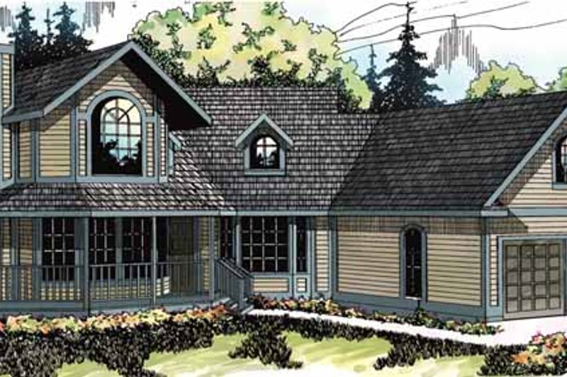 Traditional Exterior - Front Elevation Plan #124-103 - Houseplans.com