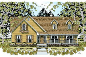 Traditional Exterior - Front Elevation Plan #42-359