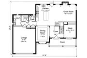 Traditional Style House Plan - 4 Beds 2.5 Baths 2559 Sq/Ft Plan #46-878 Floor Plan - Main Floor Plan