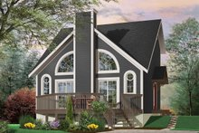 Home Plan - Modern Exterior - Front Elevation Plan #23-2029