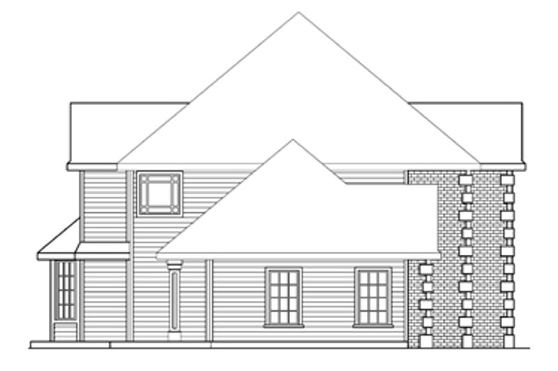 European Exterior - Other Elevation Plan #124-271 - Houseplans.com