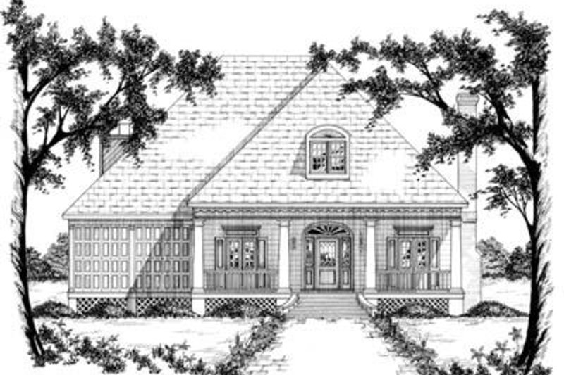 Southern Exterior - Front Elevation Plan #36-250 - Houseplans.com