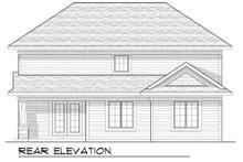 Dream House Plan - Bungalow Exterior - Rear Elevation Plan #70-945