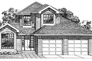 Traditional Exterior - Front Elevation Plan #47-257
