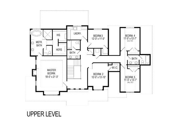 Craftsman Floor Plan - Upper Floor Plan Plan #920-8