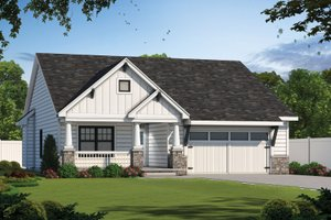Dream House Plan - Craftsman Exterior - Front Elevation Plan #20-2414