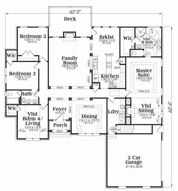 European Floor Plan - Main Floor Plan Plan #419-124