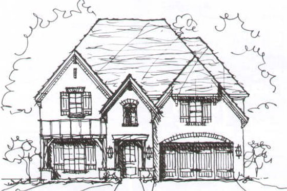 European Exterior - Front Elevation Plan #141-209