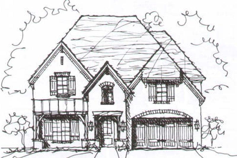 European Style House Plan - 4 Beds 3.5 Baths 3579 Sq/Ft Plan #141-209