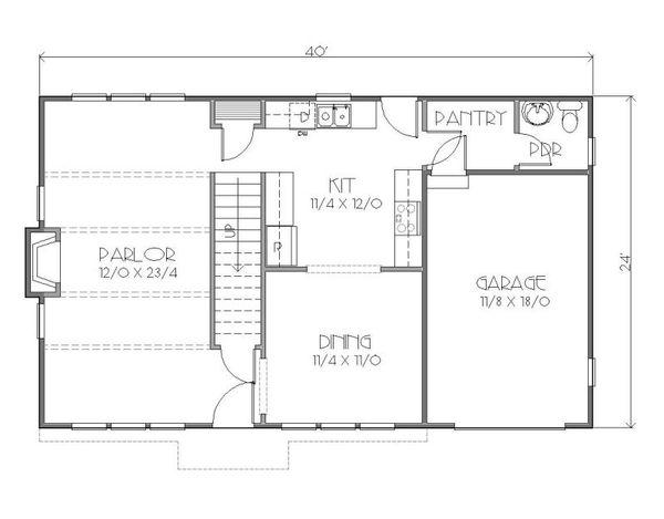 European Floor Plan - Main Floor Plan Plan #423-36