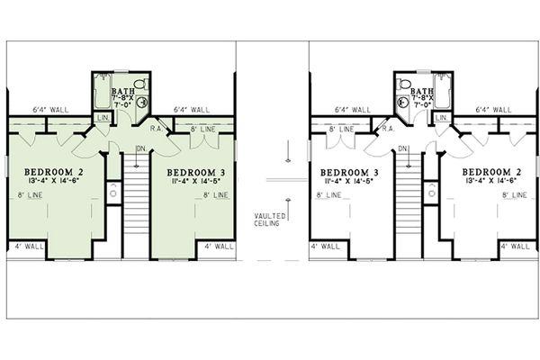 Country Floor Plan - Upper Floor Plan #17-2564