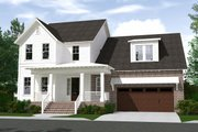 Farmhouse Style House Plan - 4 Beds 3.5 Baths 3037 Sq/Ft Plan #1071-6 Exterior - Front Elevation