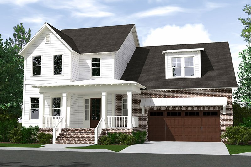 Home Plan - Farmhouse Exterior - Front Elevation Plan #1071-6