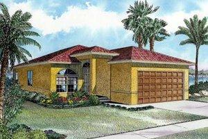 Cottage Exterior - Front Elevation Plan #420-104