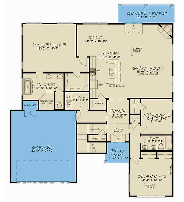 Contemporary Floor Plan - Main Floor Plan Plan #923-55