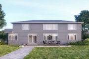 Contemporary Style House Plan - 5 Beds 4.5 Baths 4039 Sq/Ft Plan #1066-14 Exterior - Rear Elevation