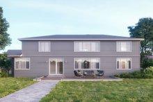 Contemporary Exterior - Rear Elevation Plan #1066-14