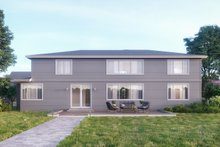 House Plan Design - Contemporary Exterior - Rear Elevation Plan #1066-14