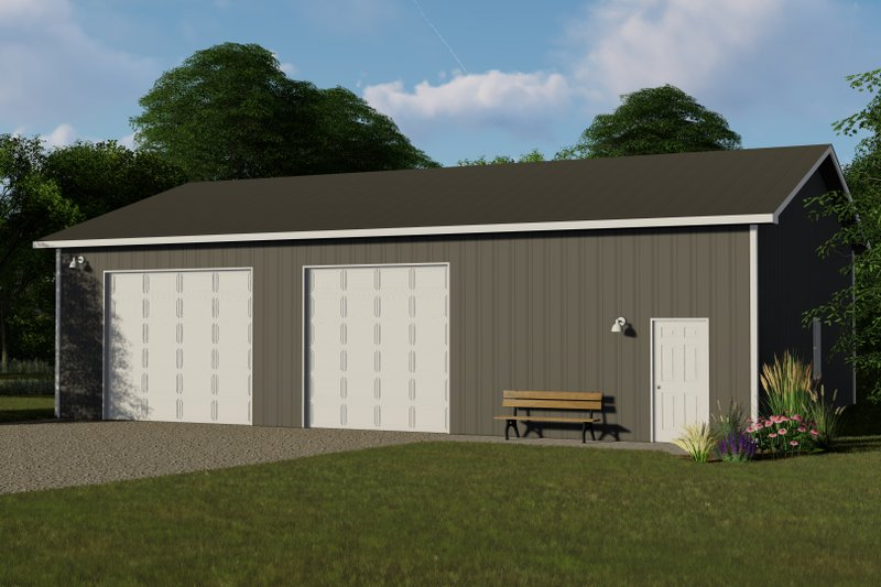 Country Exterior - Front Elevation Plan #1064-54