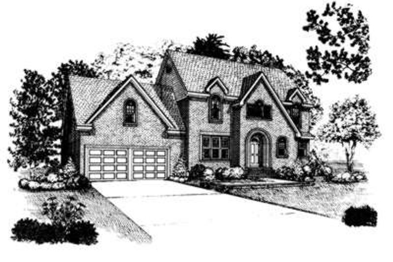 European Exterior - Front Elevation Plan #410-367 - Houseplans.com