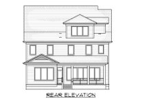 Craftsman Exterior - Rear Elevation Plan #1054-33