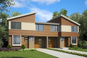 Modern Exterior - Front Elevation Plan #48-928
