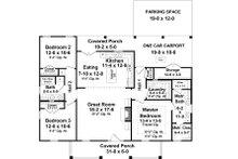 Country Floor Plan - Main Floor Plan Plan #21-448