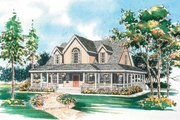 Country Style House Plan - 3 Beds 2.5 Baths 1771 Sq/Ft Plan #72-112 Exterior - Front Elevation