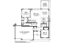 Ranch Floor Plan - Main Floor Plan Plan #70-1500