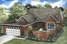 House Plan Design - Traditional Exterior - Front Elevation Plan #17-211