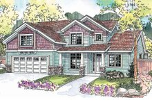 Craftsman Exterior - Front Elevation Plan #124-676