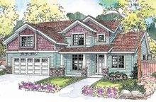 Dream House Plan - Craftsman Exterior - Front Elevation Plan #124-676