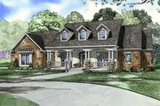 Southern Style House Plan - 4 Beds 3 Baths 2373 Sq/Ft Plan #17-2149 Exterior - Front Elevation