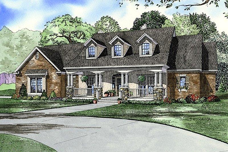 Southern Style House Plan - 4 Beds 3 Baths 2373 Sq/Ft Plan #17-2149