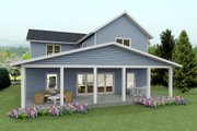 Craftsman Style House Plan - 4 Beds 3 Baths 2688 Sq/Ft Plan #461-44 Exterior - Rear Elevation
