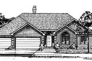Traditional Style House Plan - 3 Beds 2.5 Baths 1872 Sq/Ft Plan #50-216 Exterior - Front Elevation