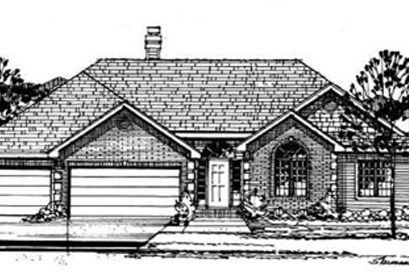 Architectural House Design - Traditional Exterior - Front Elevation Plan #50-216