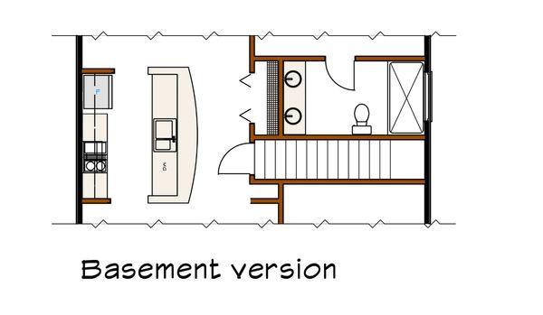 Modern Floor Plan - Lower Floor Plan Plan #79-292