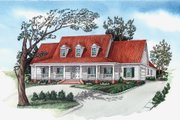 Southern Style House Plan - 4 Beds 3.5 Baths 2683 Sq/Ft Plan #16-332 Exterior - Front Elevation