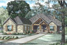 House Plan Design - Craftsman Exterior - Front Elevation Plan #17-2589