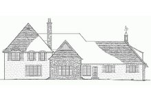 European Exterior - Rear Elevation Plan #137-232